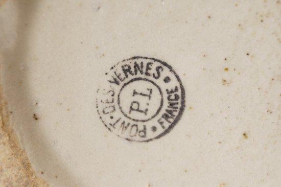 陶器の蓋付ポット