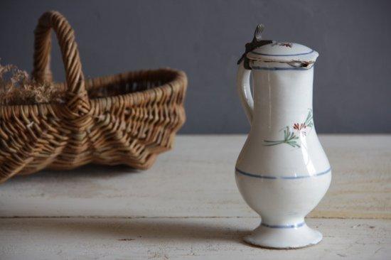 ルーアン焼 蓋付き陶製ミニピッチャー