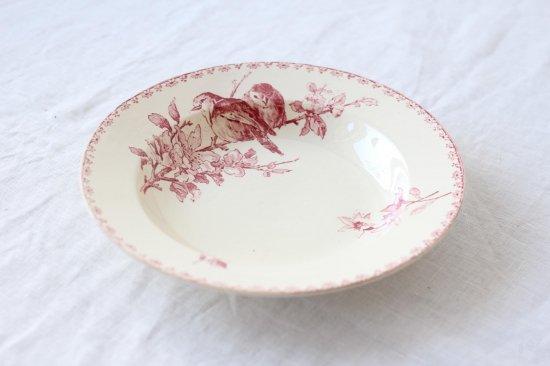 サルグミンヌ 小鳥柄のスープ皿A