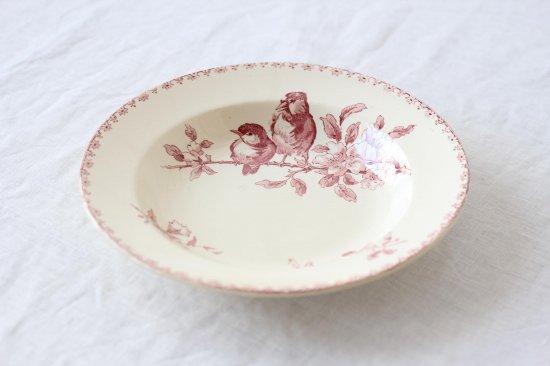 サルグミンヌ 小鳥柄のスープ皿B