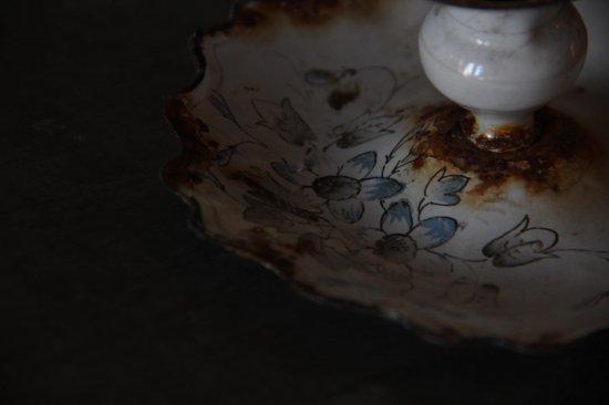 琺瑯のキャンドルホルダー/燭台