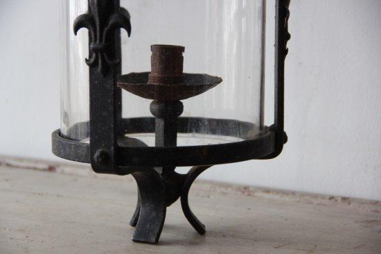 鉄とガラスのランタン