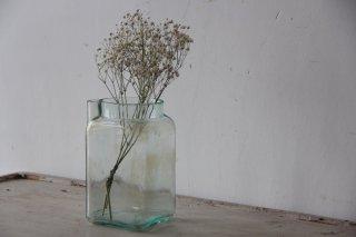 古ガラスの口付き瓶 ブルーB