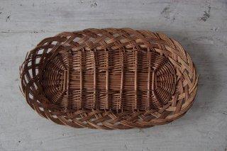 柳の浅型オーバルトレイ/編みかご