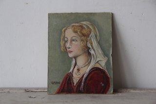 女性像の油絵/ミニキャンバス
