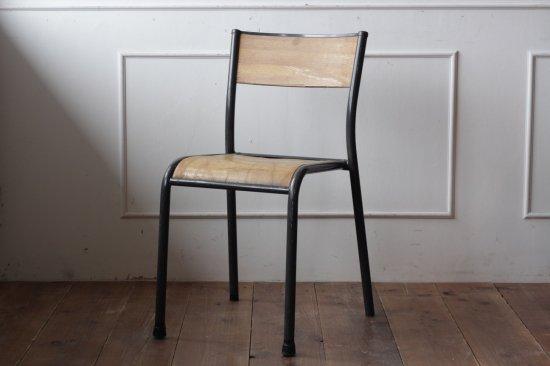 鉄フレームの木椅子 タイプI-A