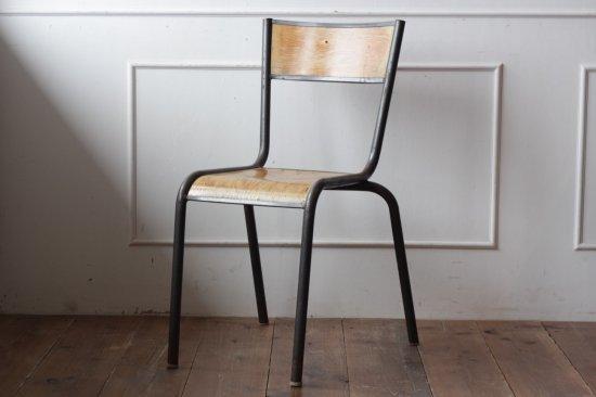 鉄フレームの木椅子 タイプII-B