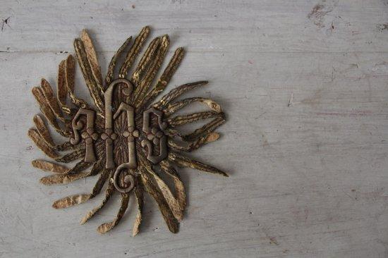 アンティーク 刺繍とスパンコール