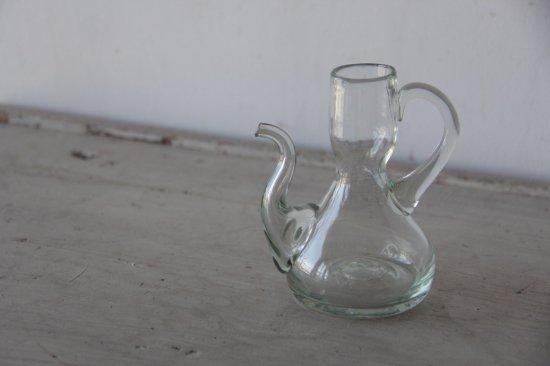 吹きガラスのオイルポットB