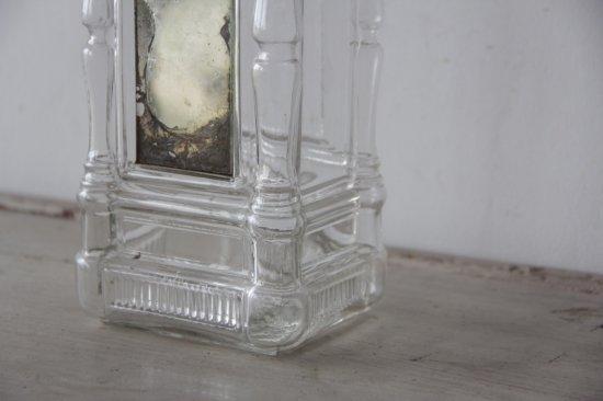 水銀装飾のボンボニエール/ガラス瓶スクエア