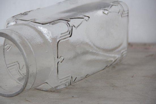 肉厚ガラスの角型ガラスボトル クリア