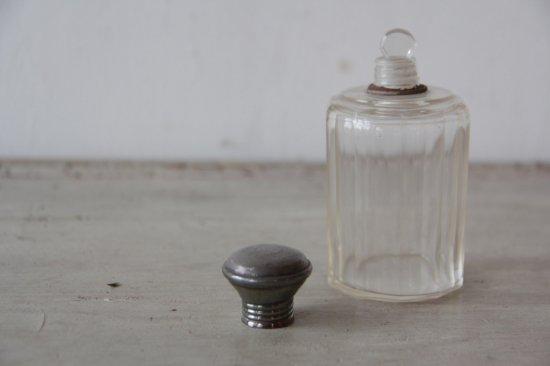 シルバー蓋付 ガラスミニボトル/パフュームボトル
