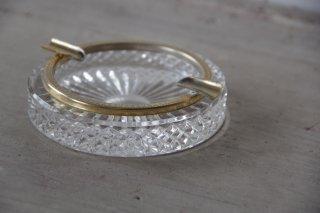 真鍮とガラスのアッシュトレイ