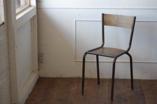 鉄フレームの木椅子 タイプ�-A