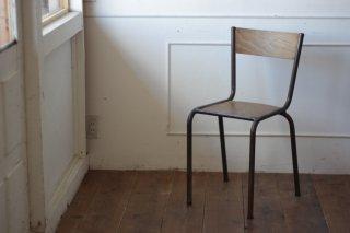 鉄フレームの木椅子 タイプ�-B
