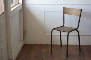 鉄フレームの木椅子 タイプ�-C