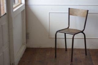 鉄フレームの木椅子 タイプ�-D