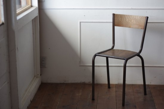 鉄フレームの木椅子 タイプ�-E