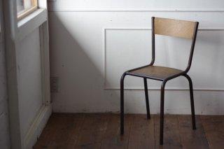 鉄フレームの木椅子 タイプ�-F