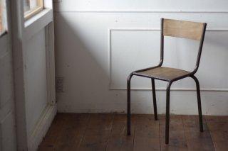鉄フレームの木椅子 タイプ�-G