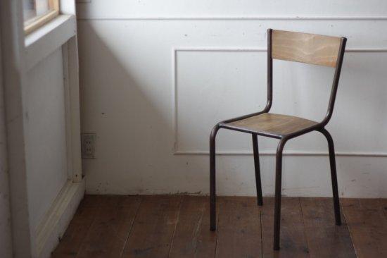 鉄フレームの木椅子 タイプ�-H
