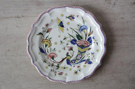 GIEN 草花と昆虫柄のカラフルな絵皿B