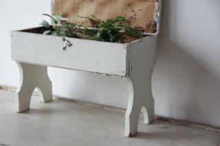 白ペイントの木製スタンド 収納付