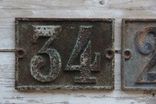 ナンバーサインプレート No.34