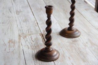 木製キャンドルスタンド/燭台C