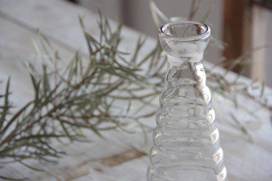 円錐フォルムのガラス瓶 大
