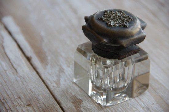 真鍮蓋のパフュームボトル/香水瓶