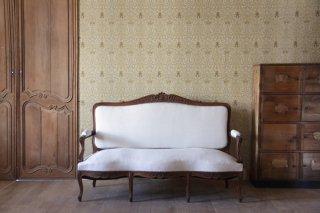 三人掛けセティ ウッドフレームソファ ロカイユ ルイ15世様式