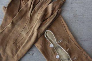 アンティーク 革製手袋/グローブB キャメル