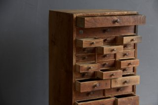 木製多段ドロワー/時計屋の道具入れ