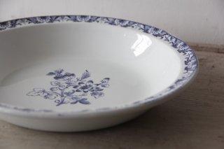 Lunéville K&G 青花柄のサラディエール/深皿大