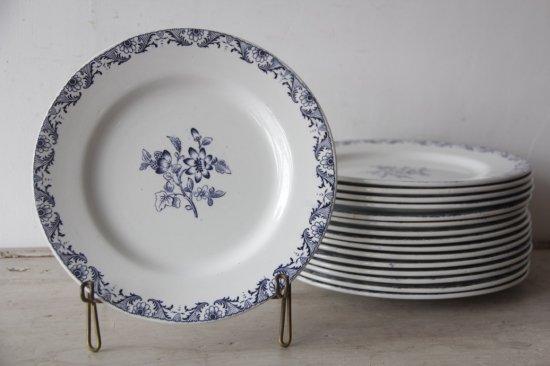 Lunéville K&G 青花柄のプレートM[在庫23]