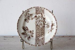 E.BOURGEOIS 花とレース模様のデザートプレートF