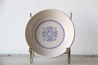 コロニアル模様のスーププレートA  陶器皿