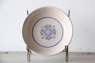 コロニアル模様のスーププレートB 陶器皿