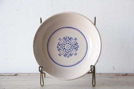 コロニアル模様のスーププレートC  陶器皿