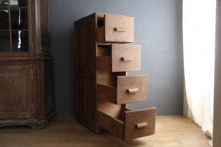 フランスアンティーク 木製書類キャビネット