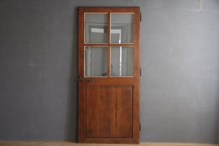 フランスアンティーク ガラス入り木調室内ドア