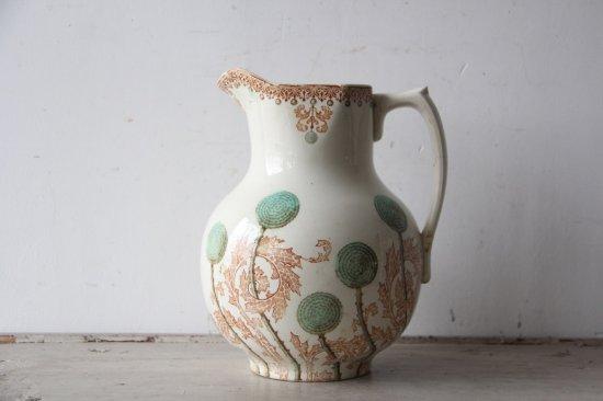 Pichet CREIL ET MONTEREAU たんぽぽ柄の水差/花瓶