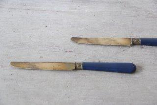 青い柄のバターナイフA