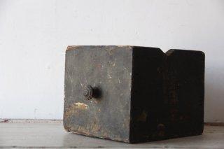 フランスアンティーク  把手付き 木製抽斗BOX/引き出し 黒