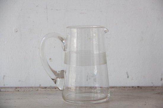 フランスアンティーク ガラスのピッチャー