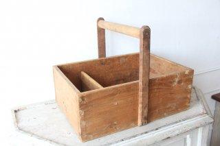 フランスアンティーク 職人の木製の道具箱