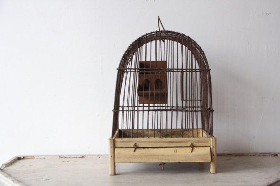 フランスアンティーク  アイアン製バードケージ/鳥かご 小