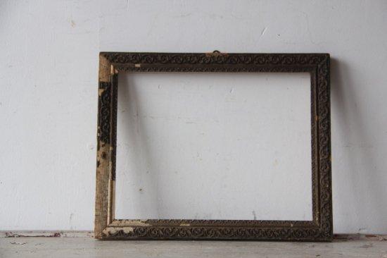 フランスアンティーク  デコラティブな木製フレーム小