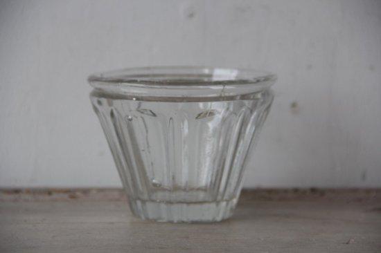 フランスアンティーク  ガラスのコンフィチュールポット A